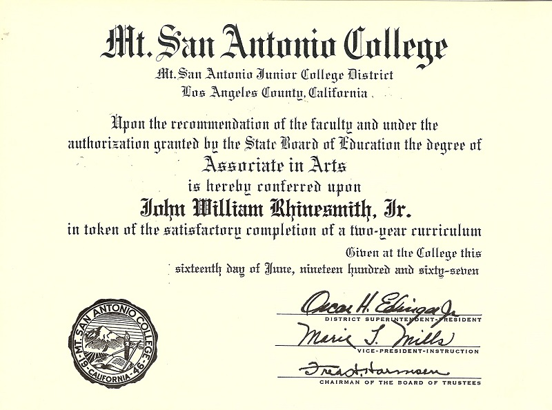 master of business administration John W. Rhinesmith Jr.